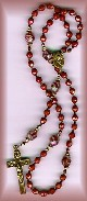 brown bead rosary